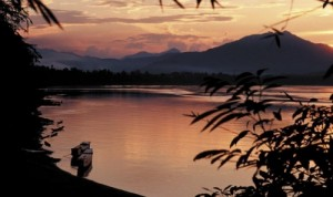 The Mekong River, pictured here at Luang Prabang, Lao PDR, is central to the lives of hundreds of millions of people. (Photo: Peter Fredenburg)