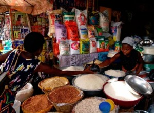 Local and imported rice in Cotonou, Benin. (Photo: R.Raman)