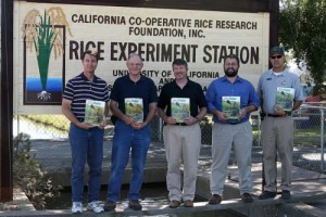 From left to right: Dana Dickey, Jim Hill, Tim Johnson, Jeremy Zwinger, and Kent McKenzie. (Photo: California Rice Commission)