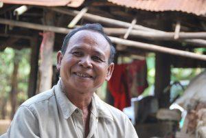 Seum Kouy, a farmer in Prey Stor Village, Prey Veng.