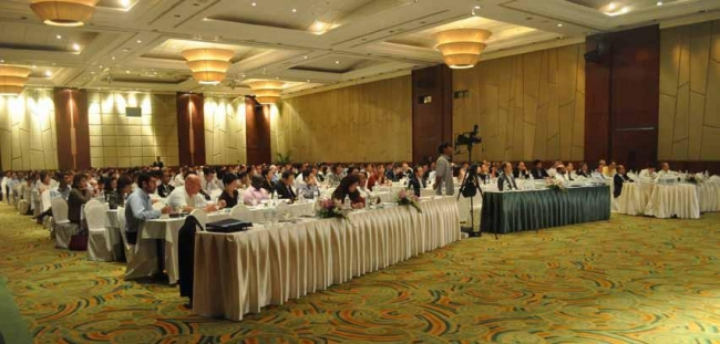 Attended by 423 delegates from 42 countries, the second World Rice Conference featured extensive analysis of demand and supply scenarios from leading analysts.  Photo: The Rice Trader