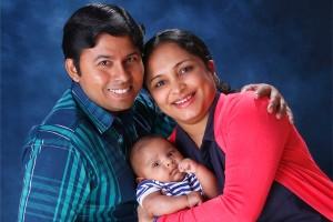 KRISHNA JAGADISH, Impa Somayanda, and their son Kanav prove that rice science and love do mix.