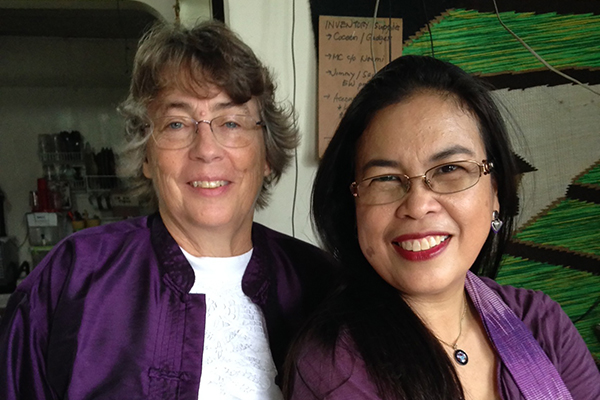 MARY HENSLEY (left) and Victoria Garcia have teamed up to bring Cordillera heirloom rice to the world. (Photo: Mary Hensley)