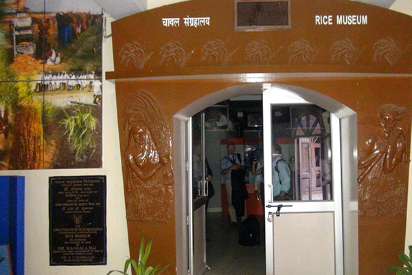 ENTRANCE TO the DRR Rice Museum in Hyderabad.