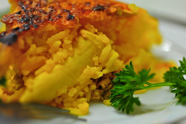 Tah Chin saffron rice and chicken