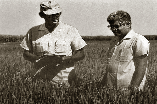 THE FIRST joint coordinators of AICRIP were S.V.S. Shastry (right) and Wayne Freeman. (DRR)