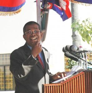Hun Sen, Cambodian leader since 1979. (Photo: Gene Hettel)