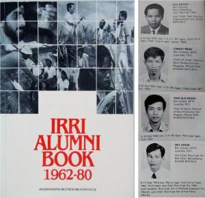 IRRI Alumni book (1962-80) with Cambodian trainees prior to the killing fields. (Photo: Gene Hettel)