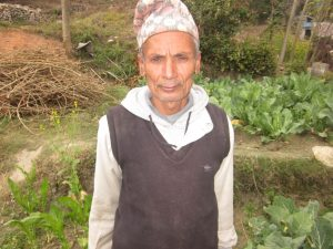 The 63-year-old Mr. Mishra lives in Sundarbazar Municipality in Paundibazar Lamjung and his farming experience began in childhood. (Photo: CURE)