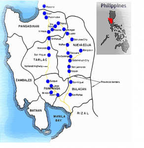Loop surveys were conducted in the wet and dry season every four to five years from 1966-67 to 2011-12 of about 100 farmers in Central Luzon, Philippines.