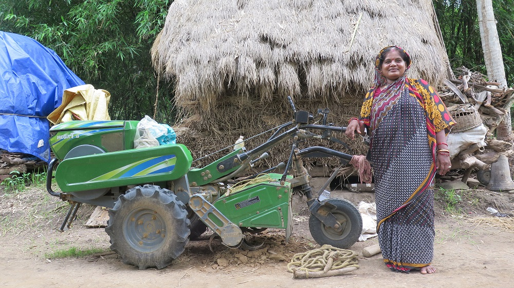 """Sukanti Swain, the """"Leader,"""" has become the go-to person in their village for the implementation of any government program. (Photo by Sam Mohanty)"""