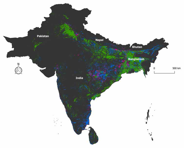 Fig. 1. Rice megaenvironments of South Asia.