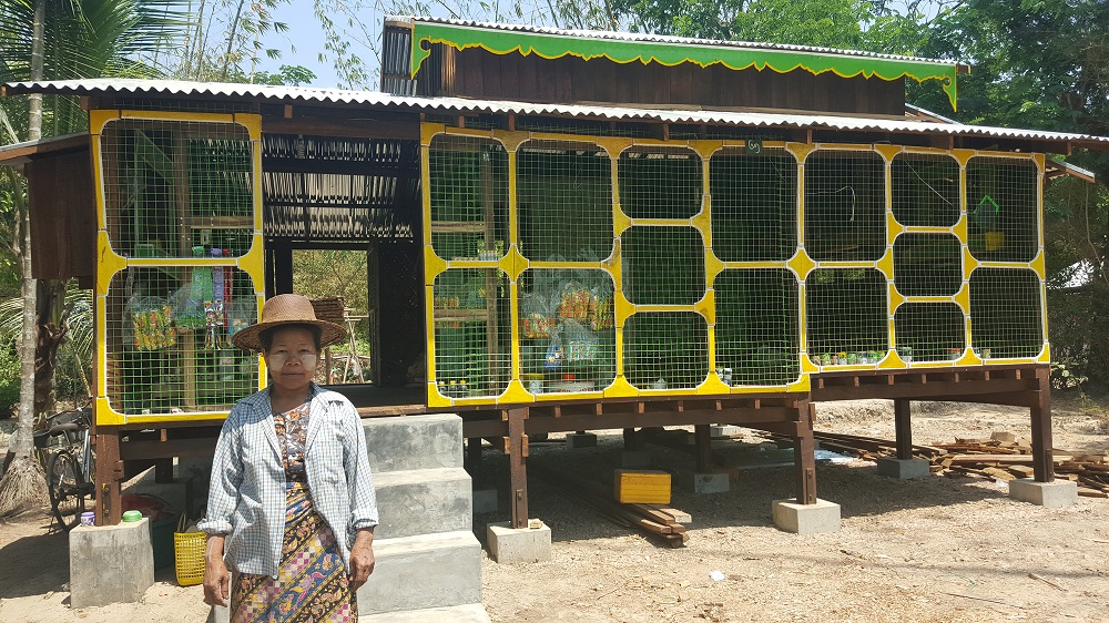 DAW TIN Yee, a farmer from Maubin, joined the MYRice on-farm research activities and benefited from her learning. (Photo: ACIAR)