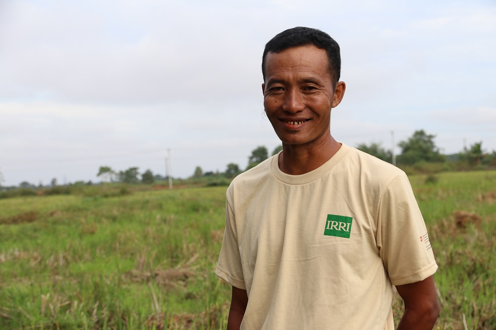 Myint Oo was able to purchase an additional 2 hectares of land from his higher earnings. (Photo by R. Quilloy, IRRI)