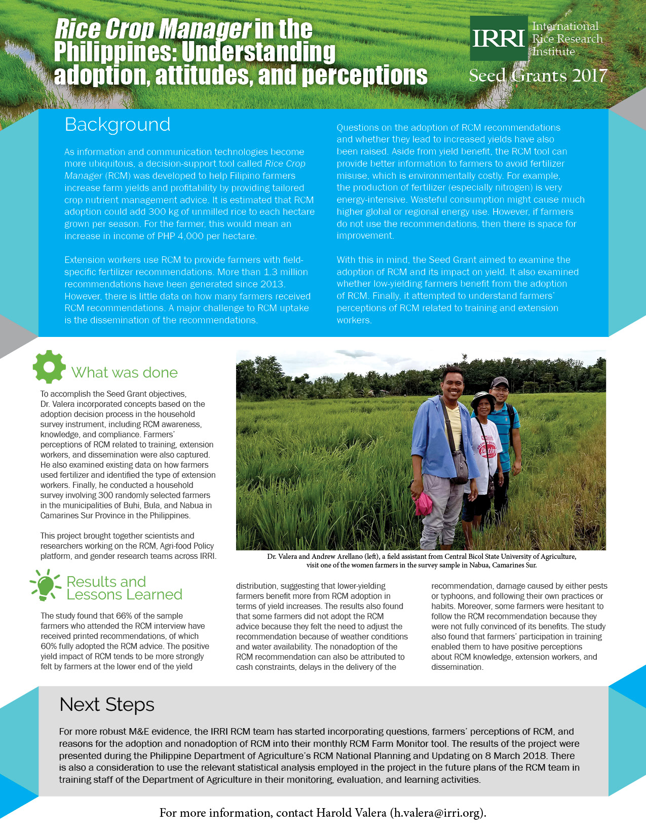 Rice Crop Manager in the Philippines: Understanding adoption, attitudes, and perceptions (Click to enlarge.)