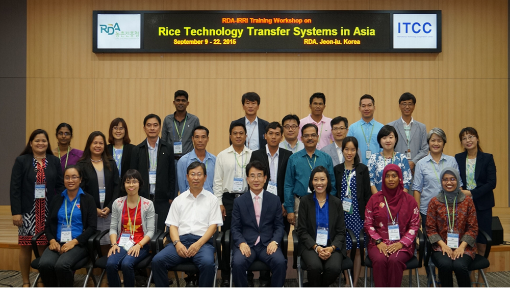 The 2015 batch of participants together with the organizers of the RTTS Workshop at the RDA Headquarters in Jeon-ju, South Korea.